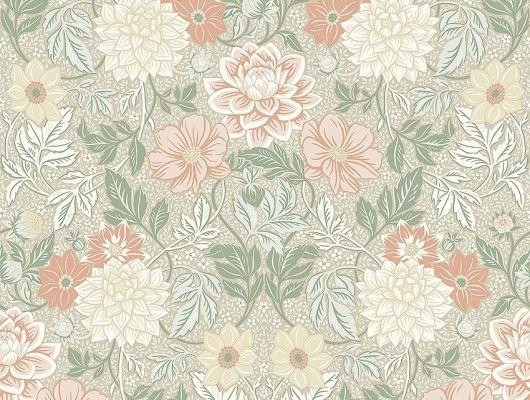 Обои  из Швеции коллекция Falsterbo lll, с рисунком под названием DAHLIA GARDEN сад Далия  изображены крупные цветы . Обои для спальни, для гостиной . Шведские обои купить, в интернет-магазине, бесплатная доставка, оплата онлайн, большой ассортимент, Falsterbo III, Обои для гостиной, Обои для кабинета, Обои для спальни