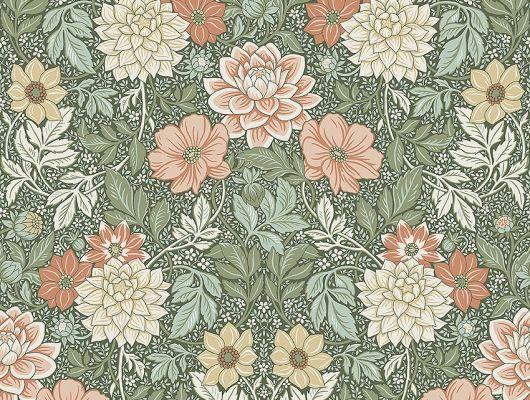 Обои из Швеции коллекция Falsterbo lll от Borastapeter, с рисунком под названием DAHLIA GARDEN сад Далия  изображены крупные цветы. Обои для спальни, для гостиной . Шведские обои купить, в интернет-магазине, бесплатная доставка, оплата онлайн, большой ассортимент, Falsterbo III, Новинки, Обои для гостиной, Обои для спальни