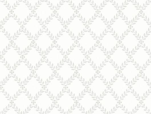 Обои из Швеции коллекция Falsterbo lll от Borastapeter. Рисунок под названием Trellis Leaves вьющийся растительный рисунок серого цвета на белом фоне. Обои для кухни, для спальни, для коридора. Купить стильные обои в интернет-магазине, бесплатная доставка, онлайн оплата, заказать., Falsterbo III, Обои для гостиной, Обои для кухни, Обои для спальни