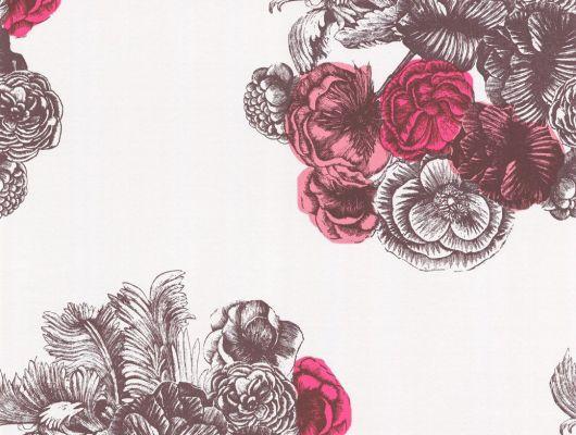Обои art 77/3010 Флизелин Cole & Son Великобритания, Fornasetti, Английские обои, Архив, Обои для спальни, Обои с цветами, Распродажа