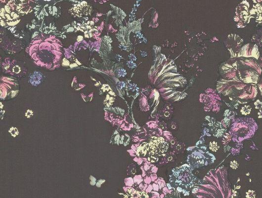 Обои art 77/6018 Флизелин Cole & Son Великобритания, Fornasetti, Английские обои, Архив, Обои для гостиной, Обои с цветами, Распродажа