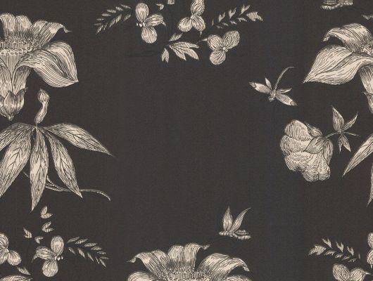 Обои art 77/8030 Флизелин Cole & Son Великобритания, Fornasetti, Английские обои, Архив, Обои для прихожей, Обои с цветами, Распродажа