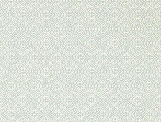 Купить английские обои флизелиновые арт. 216906/216789 с узор ромб Pinjara Trellis из коллекции Littlemore от Sanderson недорого в Москве., Littlemore, Обои для гостиной, Обои для кабинета, Обои для кухни