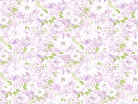 Бумажные обои Aura Little England III PP35533 для спальни с цветами.. Купить с доставкой.Недорого.Большой ассортимент. Обои в квартиру.Заказать, Little England III, Обои для гостиной