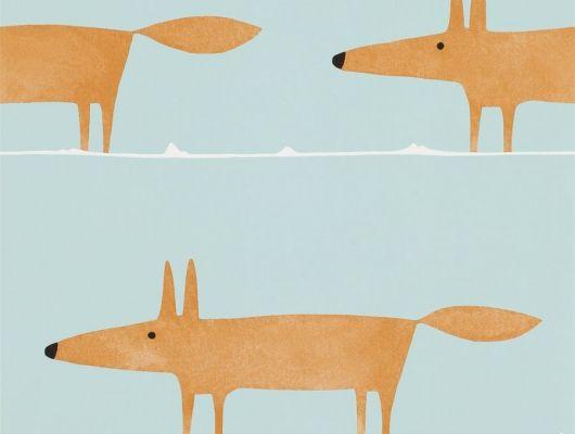 Заказать обои для детской с большими лисами Mr Fox арт. из коллекции Esala от Scion в Москве с доставкой, Esala, Обои для гостиной