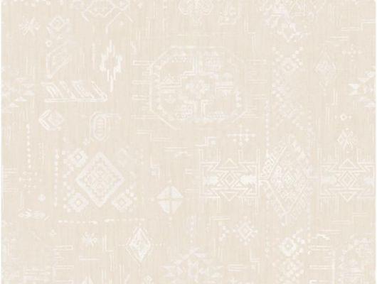 Флизелиновые обои Aura Global Fusion G56384. Бежевые обои с орнаментом. Доставка по Москве. Купить недорого в салоне., Global Fusion, Обои для гостиной, Обои для кабинета, Обои для спальни