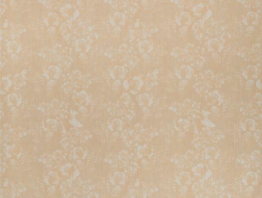 Метровые виниловые моющиеся обои из Швеции коллекция VINYL от Collection FOR WALLS под названием Vera арт 8019  бежевого цвета  с некрупным растительным рисунком и блестящими элементами для интерьера спальни, гостиной, коридора и кухни. Широкий выбор в салонах в Москве и интернет-магазине с бесплатной доставкой., Vinyl CFW, Обои для гостиной, Обои для спальни