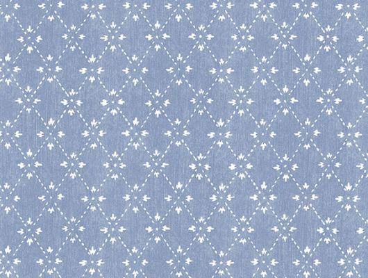 Обои бумажные с клеевой основой Aura  ,коллекция  Little England III,арт. PP35520   Геометрический орнамент на синем фоне. Мелкий орнамент. Дизайнерские обои.Купить обои, для гостиной ,для кухни , интернет-магазин, онлайн оплата, бесплатная доставка, большой ассортимент., Little England III, Обои для гостиной