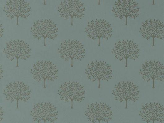 Купить английские обои Marcham Tree  из коллекция Littlemore от Sanderson с золотыми деревьями на нежно зеленом фоне в интернет-магазине обоев., Littlemore, Обои для гостиной, Обои для кабинета, Обои для спальни