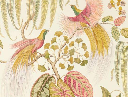 Подобрать яркие красочные обои на основе флизелина арт. 216653 из коллекции The Glasshouse от Sanderson которые подойдут для ремонта гостинной, The Glasshouse, Обои для гостиной, Обои для спальни, Обои с цветами