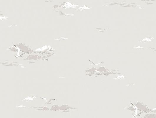 Бежевые обои с изображением чаек для прихожей или ванной комнаты бесплатная доставка по Москве, Marstrand II, Детские обои, Обои для квартиры, Обои для прихожей