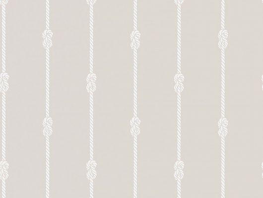 Белые полосы из веревок, связанный в морской узел, расположенные на бежевом фоне станут хорошим фоном для вашего коридора, Marstrand II, Детские обои, Обои для квартиры, Обои для прихожей, Полосатые обои