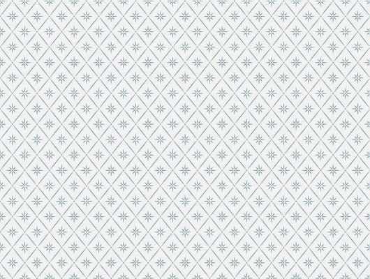 Обои шведского производства, с мелким синим рисунком на белом фоне создает в вашей комнате ощущение чистоты, Marstrand II, Детские обои, Обои для квартиры, Обои для комнаты