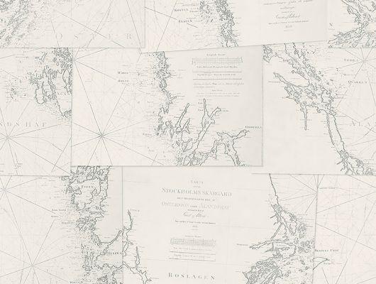Изображения карт на обоях от Borastapeter станут изумительным украшением вашего кабинета, Marstrand II, Детские обои, Обои для кабинета, Обои для квартиры