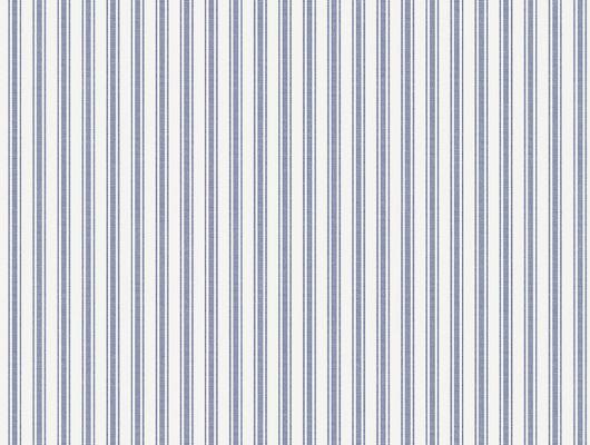 Обои в мелкую полоску синего на белом, с моющемся покрытием, Marstrand II, Детские обои, Моющиеся обои, Обои для квартиры