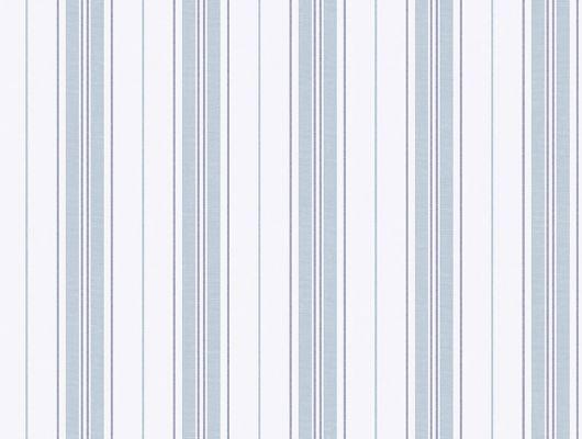 Красивые голубые полоски на белом фоне, будут чудесно смотреться в спальне, Marstrand II, Детские обои, Обои для спальни, Полосатые обои