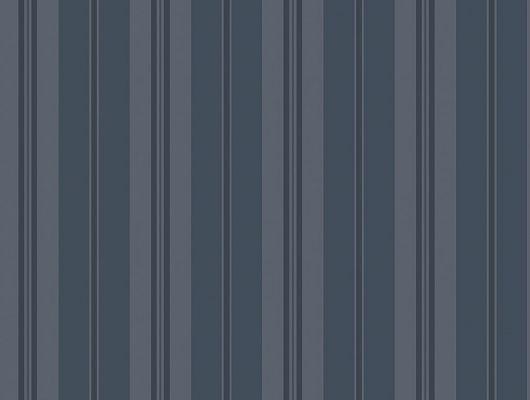 Изящная полоска в темно-синем варианте будет красиво играть на свету вашей квартиры, Marstrand II, Детские обои, Обои для квартиры, Полосатые обои