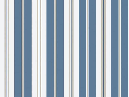 Классическая синяя полоска не белом фоне сыграет на руку вашему интерьеру в современном стиле, Marstrand II, Детские обои, Полосатые обои, Флизелиновые обои