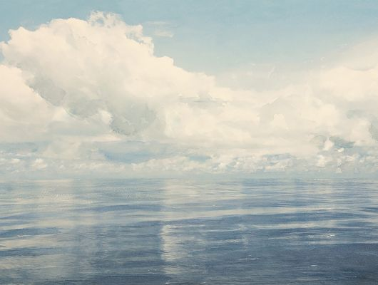 Флизелиновое фотопанно с акварельным рисунком бескрайнего морского горизонта купить под свои размеры, Marstrand II, Детские фотообои, Обои для спальни, Фотообои
