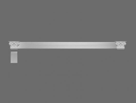 Пилястра K201LR  Orac Decor , Orac decor, Декоративные элементы, Лепнина и молдинги, Назначение, Универсальный дизайн