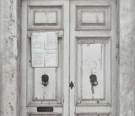 """Фотообои на флизелиновой основе, с изображением старинной двери в черно-белом цвете, Aura """"Global Fusion"""",арт.  G45270. Купить в интернет-магазине с доставкой. Для спальни,гостиной., Global Fusion, Обои для гостиной"""