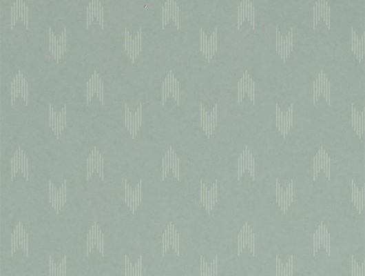Английские обои с мелким геометрическим узором на голубом фоне.Арт. 216885 из коллекции Littlemore от Sanderson для ремонта гостиной., Littlemore, Обои для гостиной, Обои для кабинета, Обои для спальни