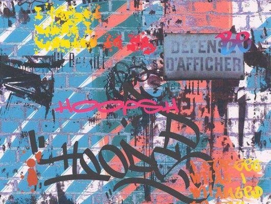 Купить обои Aura Les Aventures,арт. 51145901A граффити .Заказать в Москве с доставкой.Большой асортимент., Les Aventures, Обои для гостиной, Обои для кухни