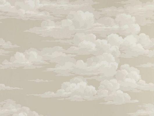 Легкий акварельный рисунок неба в бежевых оттенках для гостинной на обоях арт.216600 от Sanderson коллекции Elysian можно выбрать в магазине в Москве, Elysian