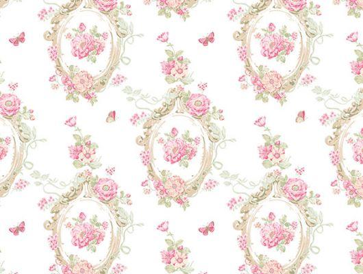 Заказать бумажные обои с винилом Aura Little England III PP35535 в Москве с цветочным орнаментом .Обои для гостиной,спальни. Купить с доставкой.Интернет-магазин. Обои для стен., Little England III, Обои для гостиной, Обои для кухни