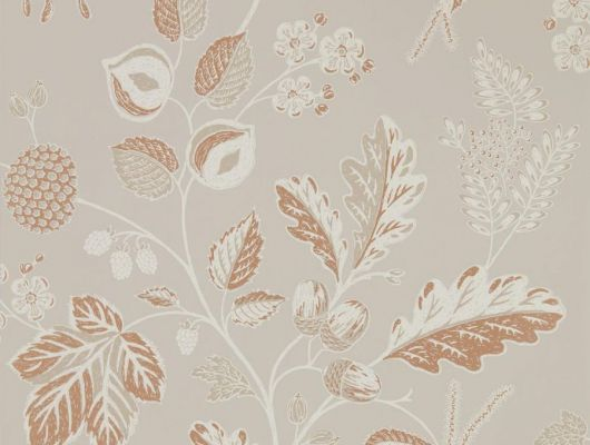 Подобрать обои со спокойным растительным рисунком на светлом фоне для спальни Warwick арт. 216615 из коллекции Elysian от Sanderson на сайте odesign.ru, Elysian, Обои для гостиной, Обои для спальни