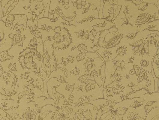 Заказать бумажные обои арт. 216696 из коллекции Melsetter от Morris в цвете античное золото с изображением животных, для ремонта гостиной., Melsetter, Бумажные обои, Обои для гостиной, Обои для кабинета, Обои для спальни