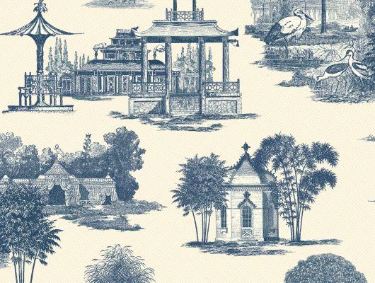 Купить обои бумажные с клеевой основой York - Ashford House Toiles II, арт. AF1918. Обои с рисунком домов на красном фоне.Обои с архитектурой. Обои для спальни,гостиной, прихожей. Заказать в интернет-магазине. Доставка в Москве.Обои для стен., Ashford House Toiles II, Обои для гостиной, Обои для кухни, Обои для спальни