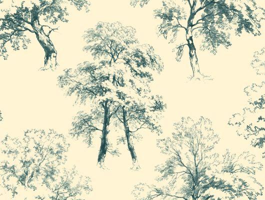 Купить обои бумажные с клеевой основой York - Ashford House Toiles II, арт. AF1924. Обои с рисунком деревьев на бежевом фоне. Обои с крупным рисунком. Обои для спальни,гостиной, прихожей. Заказать в интернет-магазине. Доставка в Москве.Обои для стен., Ashford House Toiles II, Обои для гостиной, Обои для кухни, Обои для спальни