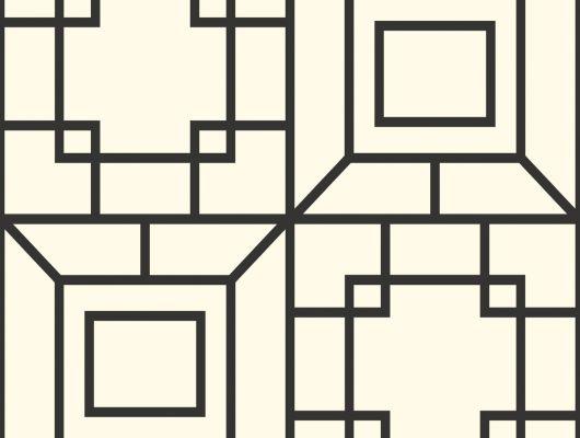 Купить Обои бумажные с клеевой основой York - Ashford House Toiles II,арт.AF1967 с крупным геометрическим узором. В черно-белом цвете.Доставка.большой ассортимент.Обои в гостину.Фото в интерьере., Ashford House Toiles II, Обои для гостиной, Обои для кабинета, Обои для кухни, Обои для спальни