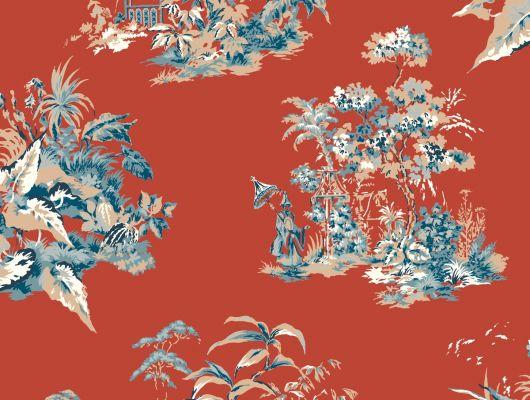 Купить обои бумажные с клеевой основой York - Ashford House Toiles II, арт.AF1991 с рисунком жуи для спальни. Большой ассортимент. Выбрать в салоне.Заказать., Ashford House Toiles II, Обои для спальни