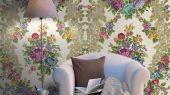 Заказать флизелиновые фотообои Aura Aliento de Valencia,арт. 4010-1.Ажурный дамасский узор в бежевом цвете.Купить в Москве с доставкой. Заказать в интернет-магазине.Обои для гостиной,спальни.