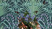 """Обои Cole & Son - """"Bluebell"""" арт. 115/3009 - это затейливый орнамент из полевых цветов, ростков пшеницы, маков, гиацинтоидесов и колокольчиков цвета мяты и сирени с оттенками шалфея на угольном фоне. Английские обои, Обои Cole & Son, Каталог обоев"""