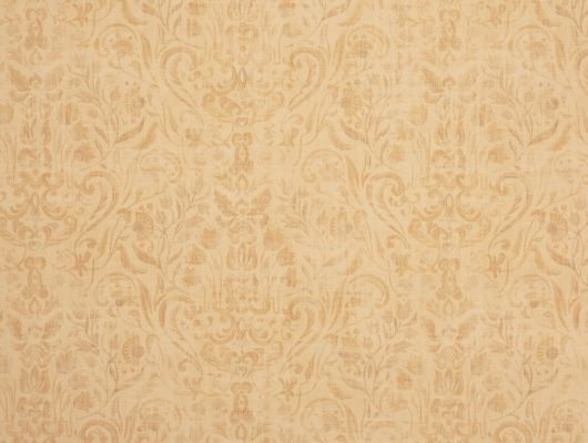 Флизелиновые обои из Швеции коллекция VINYL от Collection FOR WALLS под названием Nils. Причудливый растительный рисунок с тонкими линиями в бежевых, светло-коричневых и светло-оранжевых оттеках на светлом фоне имитирующем текстиль. Обои для кухни, обои для гостиной, обои для спальни. Купить обои онлайн, большой ассортимент, бесплатная доставка, Vinyl CFW, Обои для гостиной, Обои для кухни, Обои для спальни