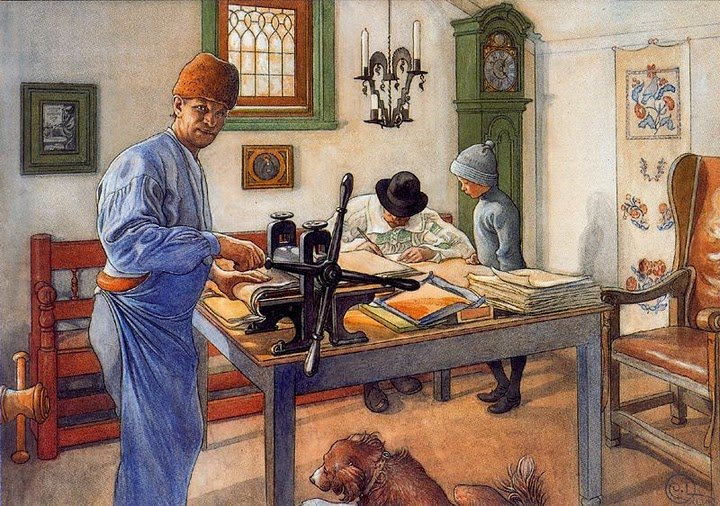 Carl Larsson - My workshop of engraving