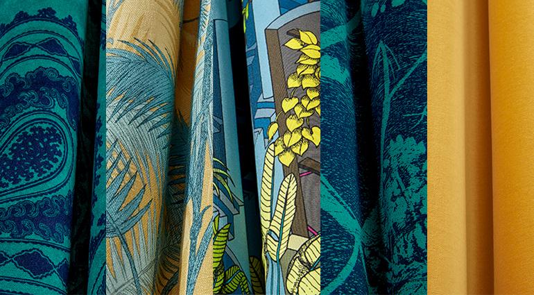 ColeSon_The Contemporary Collection-Fabrics_colourbank-PETROL-OCHRE_odesign_tkani