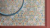 """Английские флизелиновые обои, арт. 118/13029 """"Court Embroidery"""", бренда Cole & Son , из коллекции Great Masters . Обои в гостиную, с ярким цветочным рисунком, с эффектом вышивки . Купить в Москве с бесплатной доставкой, широкий ассортимент."""