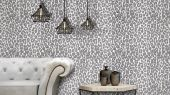 Экзотические обои для спальни с рисунком на бежевом фоне в виде окраса леопарда Desire, дизайнерские обои, обои с глянцем.
