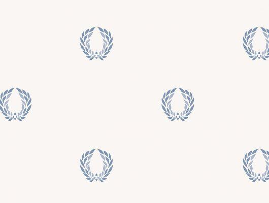 Виниловые обои на бумажной основе напечатаны методом горячего тиснения. Обои металлизированы и имитируют шелковое сияние. Арт.№ 36407 - фоновые обои в классическом стиле, а паттерн в виде золотой триумфальной короны Древнего Рима, придает им торжественный вид. Обои для спальни, выбрать в каталоге, заказать доставку, Silks & Textures II, Обои для гостиной, Обои для кухни