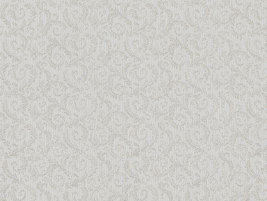 Виниловые обои на бумажной основе напечатаны методом горячего тиснения. Обои металлизированы и имитируют шелковое сияние. Арт.№ 36411 - классический растительный орнамент серебристого оттенка, идеально подходят для использования в качестве фоновых обоев, Обои в Москве, адреса магазинов, каталог обоев, Silks & Textures II, Обои для гостиной, Обои для кухни, Обои для спальни