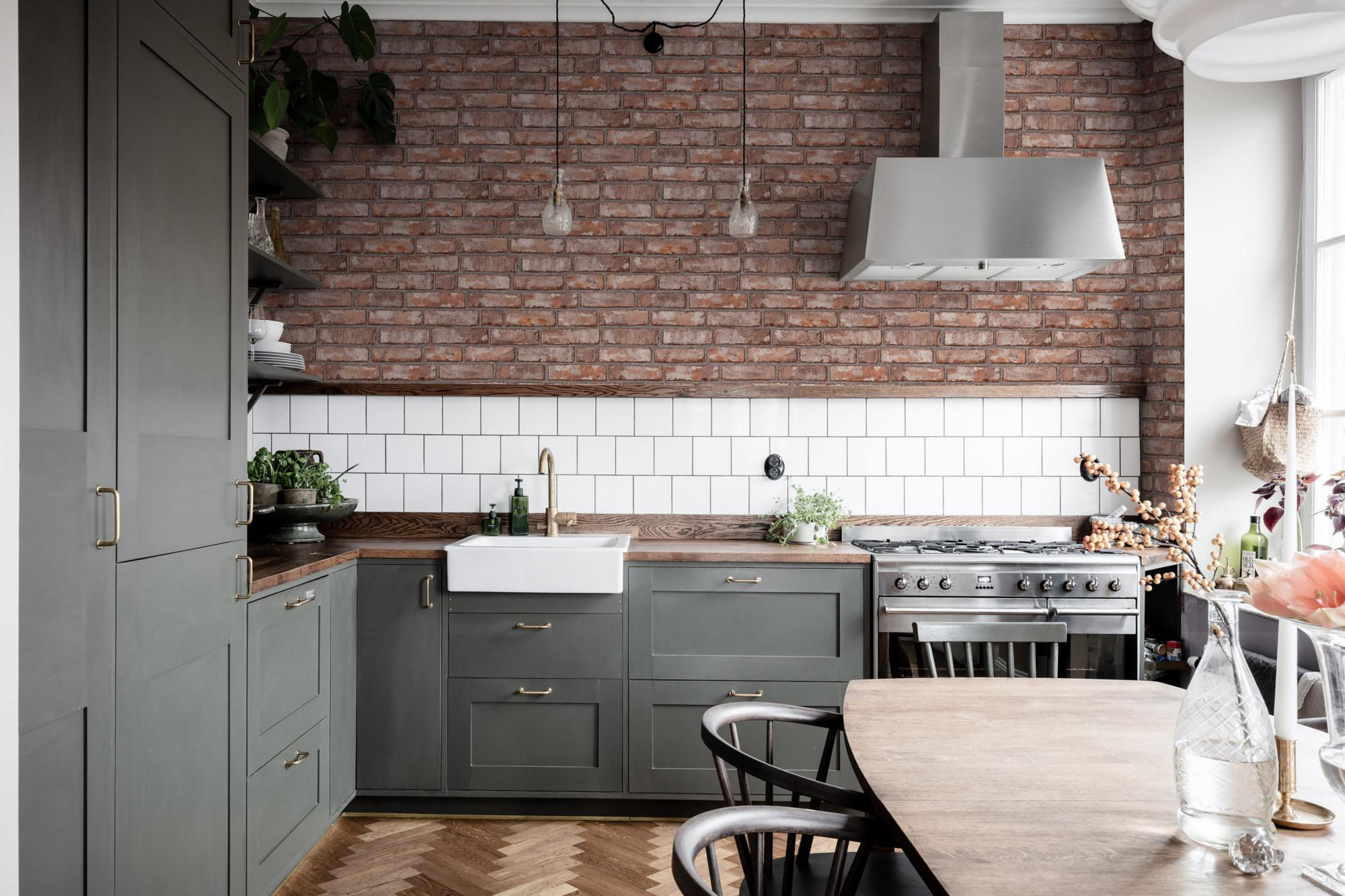 полумахровые сине-голубые кухня в шведском стиле фото очень