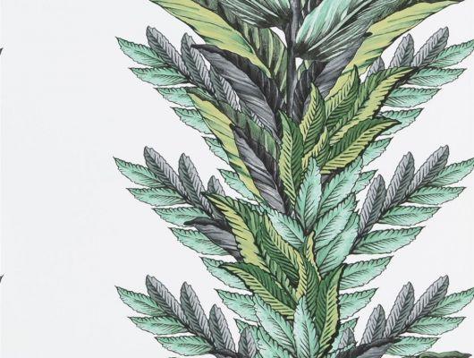 Обои 1004/01, с растительным орнаментом на фоне белого цвета в каталоге Christian Lacroix, Au theatre ce soir, Обои для гостиной, Обои для кабинета, Обои для спальни