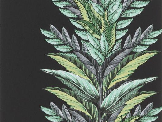 Обои Christian Lacroix арт. № 1004/03. Растительный орнамент на фоне угольного цвета. Подобрать обои, растительный орнамент, цветы в интерьере., Au theatre ce soir, Обои для гостиной, Обои для кабинета, Обои для спальни