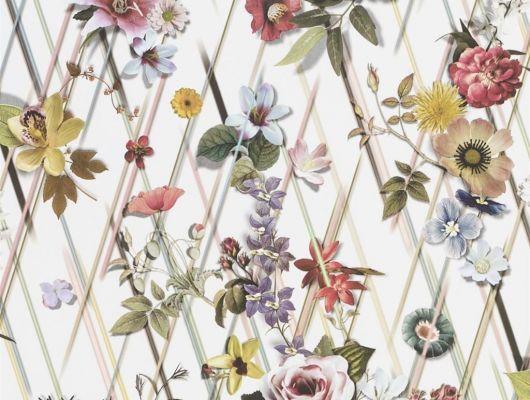 Обои Christian Lacroix арт. № 1005/01. Растительный геометрический орнамент с изображением искусственных цветов. Обои для ремонта, обои для комнаты, красивые обои., Au theatre ce soir, Обои для гостиной, Обои для кухни, Обои для спальни