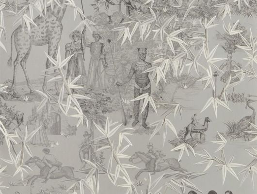 Сюжетные обои от Christian Lacroix в стиле жуи, с изображением растительности, людей, животных и предметов обихода. Посмотреть коллекцию, выбрать обои, заказать доставку., Au theatre ce soir, Обои для гостиной, Обои для кабинета, Обои для спальни
