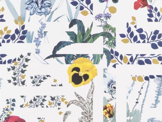 Переплетенные между собой ботанические узоры и графические линии на белом фоне создают воплощение шикарного стиля Christian Lacroix отраженного на флизелиновых обоях PCL7018/02 для стен, Histoires Naturelles, Обои для гостиной, Обои с цветами